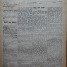 Ziarul Munca , organ social-democrat ,an 1 ,nr. 32 ,1890 , I. Nadejde , C. Mille