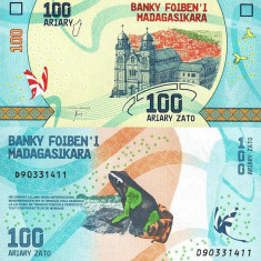 MADAGASCAR 100 ariary ND (2017) UNC!!! - bancnota africa