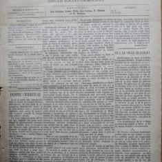 Ziarul Munca , organ social-democrat ,an 1 ,nr. 15 ,1890 , I. Nadejde , C. Mille