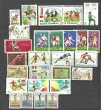 FOTBAL - 27 timbre stampilate DIFERITE, LOT215, Stampilat