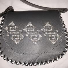 Geanta de piele, lucrata manual - Geanta handmade