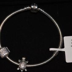 Bratara Pandora moments clema argint 925 nepurtata noua cu 2 charmuri in cutie - Bratara Fashion