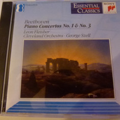 Beethoven - piano co. nr 1&3 - Leon Fleisher, George Szell - Muzica Clasica sony music, CD