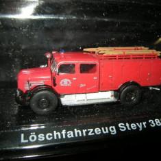 Macheta pompieri Loschfahrzeug Steyr 380 scara 1:72 - Macheta auto