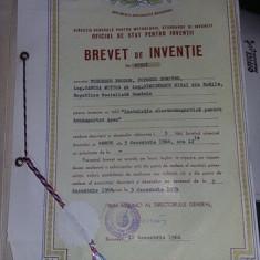 BREVET de INVENTIE 1966, Oficiul de stat pt.Inventii, Republica Socialista ROMANIA