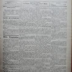 Ziarul Munca , organ social-democrat ,an 1 ,nr. 30 ,1890 , I. Nadejde , C. Mille