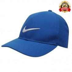 Sapca Nike Legacy Performance Albastra - Originala - Reglabila - 100% Polyester - Sapca Barbati Nike, Marime: Alta, Culoare: Albastru