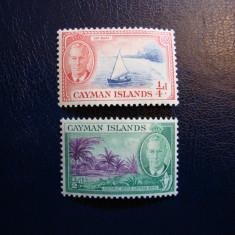 LOT CAYMAN ISLANDS GEORGE VI ANGLIA/COLONII, Nestampilat