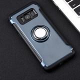 Carcasa de protectie / husa cu suport magnetic si mod stand pt Samsung Galaxy S8, Albastru, Silicon