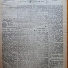 Ziarul Munca , organ social-democrat , an 1 ,nr. 5 ,1890 , I. Nadejde , C. Mille