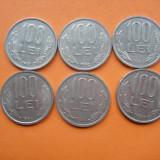 100 LEI 1991, 1992, 1993, 1994, 1995, 1996. LOT - Moneda Romania
