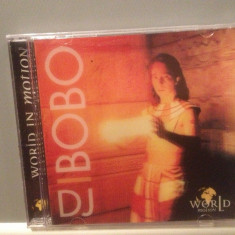 DJ BOBO - WORLD IN MOTION 3D Cover (1996/EMI/GERMANY) - CD NOU/Sigilat/Original - Muzica Dance emi records