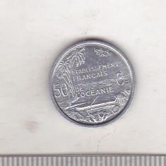 bnk mnd Oceania Franceza 50 centimes 1949 unc