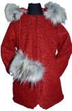 Palton elegant pentru fetite Sabina PES RO2, Rosu