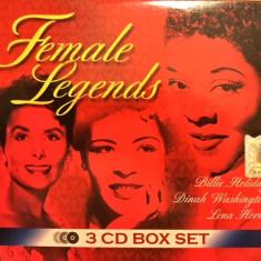 Female Legends - Billie Holiday, Dinah Washington & Lena Horne (triplu CD) - Muzica Jazz roton