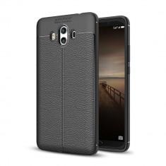 Carcasa de protectie Litchi Leather husa silicon TPU pt Huawei Mate 10