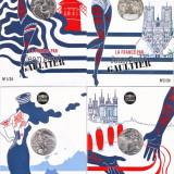 Franta - Complet 24 monede argint 10 euro 2017 in foldere - Jean Paul Gaultier
