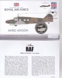 Bnk mnd Nauru 1 $ 2007 FDC - Istoria aviatiei RAF - Avro Anson, Australia si Oceania