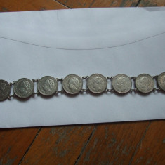 JN. Bratara din monede de 25 centi Olanda, argint