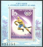 Romania 1979 -  HOCHEI PE GHEATA LAKE PLACID 1980,  colita MNH, LOT116