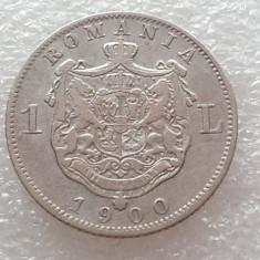 1 LEU 1900-ARGINT-CAROL I REGE - Moneda Romania