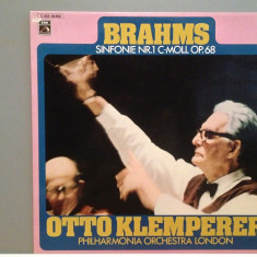 BRAHMS - SYMPHONY no 1 -dir. Otto Klemperer (1969/EMI/RFG) - disc VINIL/Ca NOU - Muzica Clasica emi records