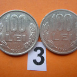 100 LEI 1992 AMBELE VARIANTE - Moneda Romania