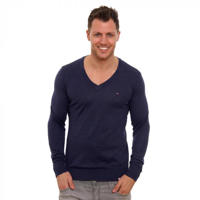 Pulover TOMMY HILFIGER denim V-Neck sweater XL  941e431781