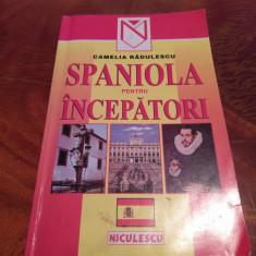 Spaniola Pentru Incepatori Camelia Radulescu, editura Niculescu 2001 - Curs Limba Spaniola