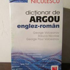 DICTIONAR DE ARGOU ENGLEZ -ROMAN