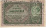 Austria bilet loterie 1928