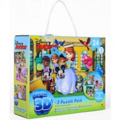 Puzzle 3D - Set 3 Jocuri Disney Junior