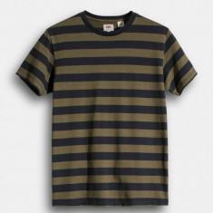 Tricou / Levis Mighty Stripe T-shirt Olive Night L - Tricou barbati Levi's, Marime: L, Culoare: Din imagine, Maneca scurta, Bumbac