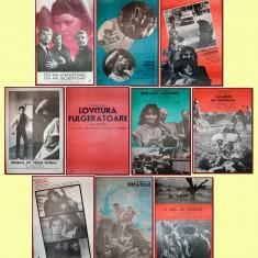 10 afise Romaniafilm era comunista (lot 3), cinema Epoca de Aur anii '80