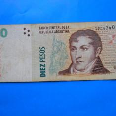 HOPCT ARGENTINA 10 PESOS 1998-2003 - bancnota america