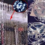 Perdea Luminoasa Exterior Maxi,Instalatii Craciun,Ghirlande Luminoase,PREMIUM