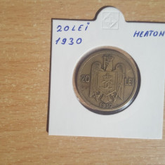 20 Lei 1930 Heaton - Moneda Romania