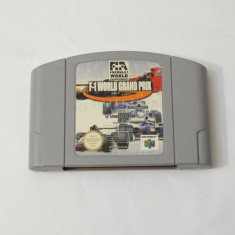 Joc consola Nintendo 64 N64 - F1 World Grand Prix, Actiune, Toate varstele, Single player