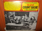 -Y- HISTORY OF JAZZ THE GREAT COUNT BASIE & HIS ORCHESTRA    DISC VINIL