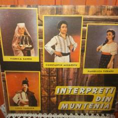 INTERPRETI DIN MUNTENIA - LIVIU VASILICA / VIORICA SANDU / PANSELUTA FIERARU - Muzica Populara, VINIL