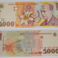 Bancnota 5000 lei - 1998 Lucian Blaga - Bancnota romaneasca
