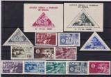 ROMANIA  1945  LP 181 LP 181 a LP 182 LP 183 LP 184  AGIR  SERII SI COLITE  MNH, Nestampilat