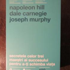 SECRETELE CELOR TREI MAESTRI-NAPOLEON HILL - Carte Marketing