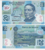 MEXIC- 20 PESOS 2016-POLYMER- UNC!!