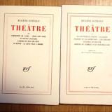 "EUGENE IONESCO- THEATRE, vol I SI II, 1954, ""Gallimard"" - Carte Editie princeps"