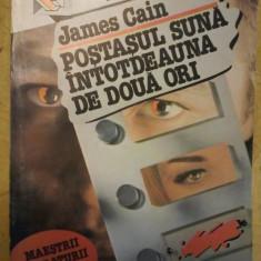 James Cain Postasul suna intotdeauna de doua ori - Carte politiste
