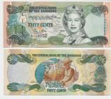 INSULELE BAHAMAS- 1/2 DOLLAR 2001- P 68- UNC!!