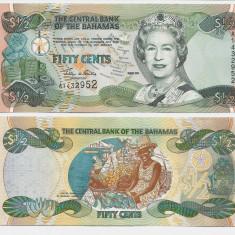 INSULELE BAHAMAS- 1/2 DOLLAR 2001- P 68- UNC!! - bancnota america