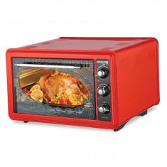 Cuptor electric cu termostat Harlem® For YOU HAF332, 1300W, 36L, Rosu + BONUS 3 Accesorii Incluse