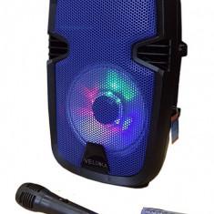 NOU! BOXA ACTIVA CU MIXER, STATIE, BLUETOOTH, TELECOMANDA SI MICROFON, 120W PUTERE. - Echipament karaoke